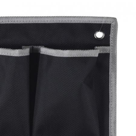 Suport organizare 4 compartimente poliester, Dim 20x57 cm , negru3