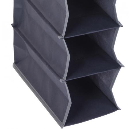 Suport organizare cu 10 rafturi, poliester, Dim 30x15x120 cm2