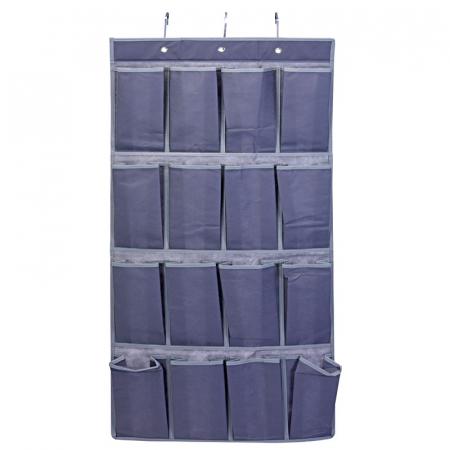 Suport organizare cu 16 buzunare, poliester, Dim 45 x112 cm , cu 3 carlige pentru agatare0
