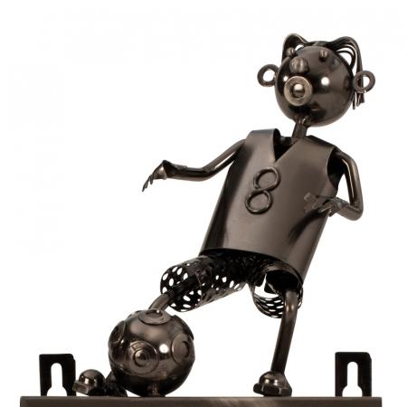 Suport pentru hartie igienica, din metal, model fotbalist, 28x15 cm [5]