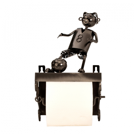 Suport pentru hartie igienica, din metal, model fotbalist, 28x15 cm10