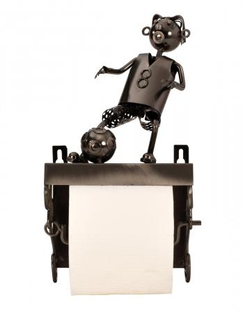 Suport pentru hartie igienica, din metal, model fotbalist, 28x15 cm1