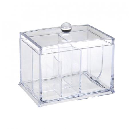 Suport compartimentat, pentru organizare cosmetice, NAGO®, Plexiglas, 15x11x12.5 cm, Transparent2