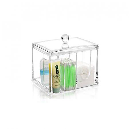 Suport compartimentat, pentru organizare cosmetice, NAGO®, Plexiglas, 15x11x12.5 cm, Transparent1