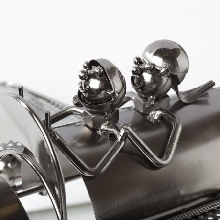 Suport pentru Sticla de Vin din Metal, model Avion, Capacitate 1 Sticla, Cupru, H30cm L 49 cm8