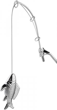 Suport pentru Sticla de Vin, model Pescar cu Barca, Metal Lucios, 39cm l29cm [10]