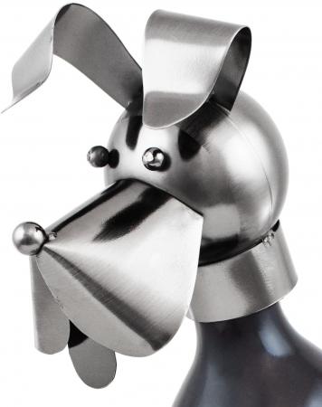 Suport pentru Sticla Vin, model Catel, metal lucios, culoare Negru/Argintiu, capacitate 1 Sticla, H 36 cm1