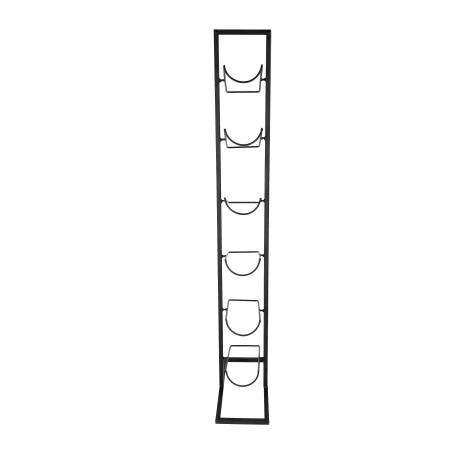 Suport pentru Sticle de Vin din Metal, Negru, Capacitate 6 Sticle de 0.75 cl [4]