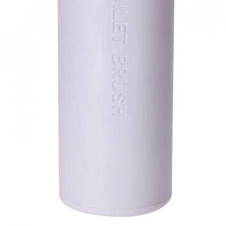Perie WC cu Suport din plastic Alb, cu maner si capac din bambus Maro, 9 cm x H21.5 cm [5]