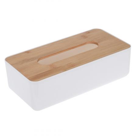 Suport plastic pentru servetele cu capac bambus 26x13x8 cm [0]