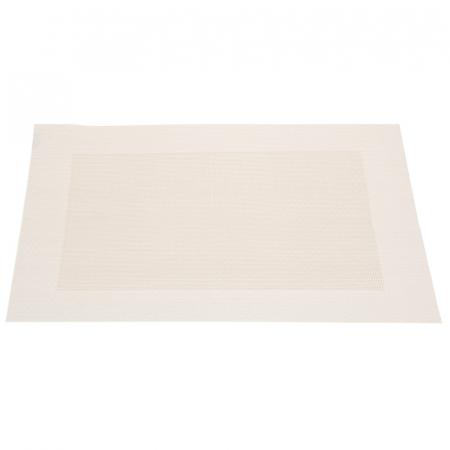 Table mat alb cu auriu deschis1