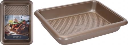 Tava cuptor, otel inoxidabil, 37X27X6 cm, 2900 ml, Bej5