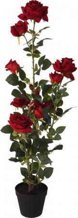 Trandafir artificial Rosu in ghiveci, inaltime 95 cm [2]