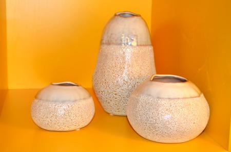Vaza ceramica 10 cm culoarea fildes2