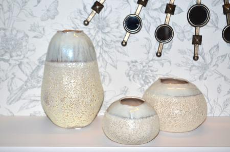 Vaza ceramica 10 cm culoarea fildes1