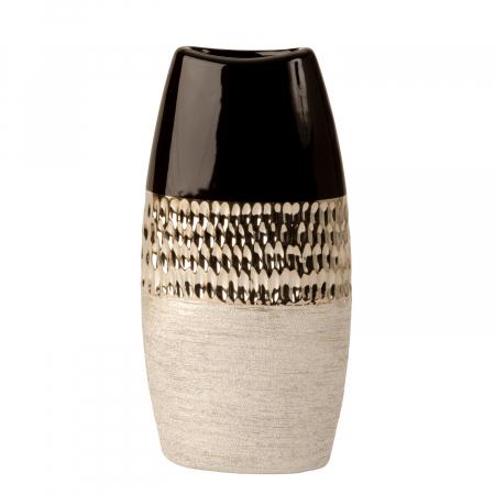 Vaza Ceramica, Antracit cu Argintiu, 29x15 cm4