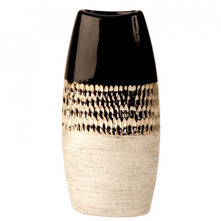 Vaza Ceramica, Antracit cu Argintiu, 29x15 cm1