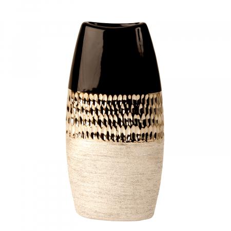 Vaza Ceramica, Antracit cu Argintiu, 29x15 cm0