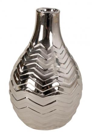 Vaza ceramica argintie 16 cm [2]