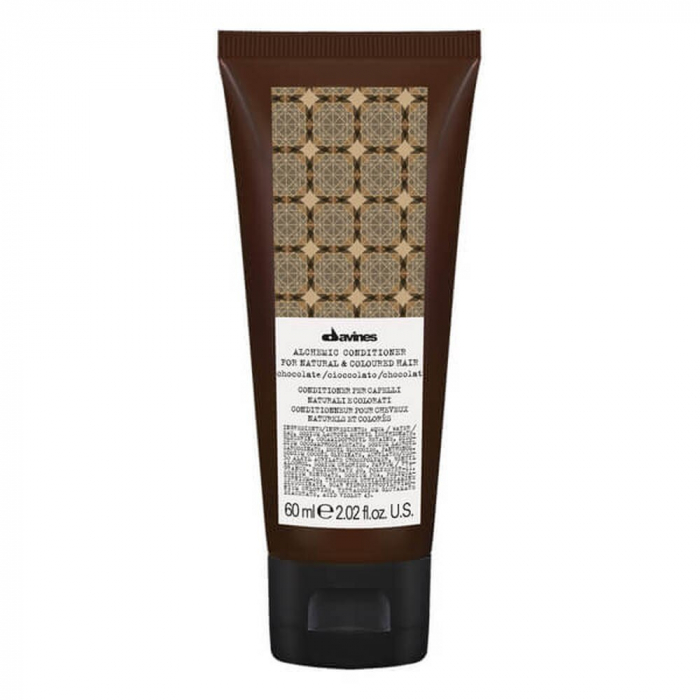 Balsam Alchimic pentru par saten Davines, Alchemic Chocolate Conditioner 60ml 0