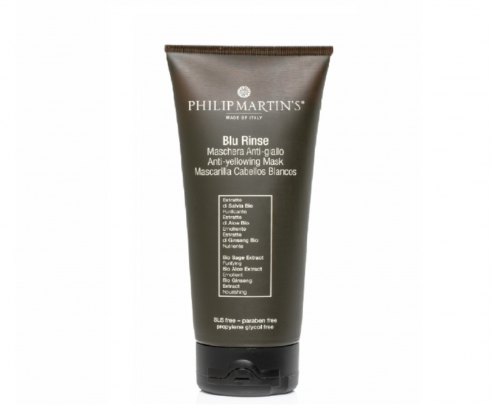 Masca anti-ingalbenire pentru par Philip Martins, BLU Rinse Anti Yellowing 200ml 0