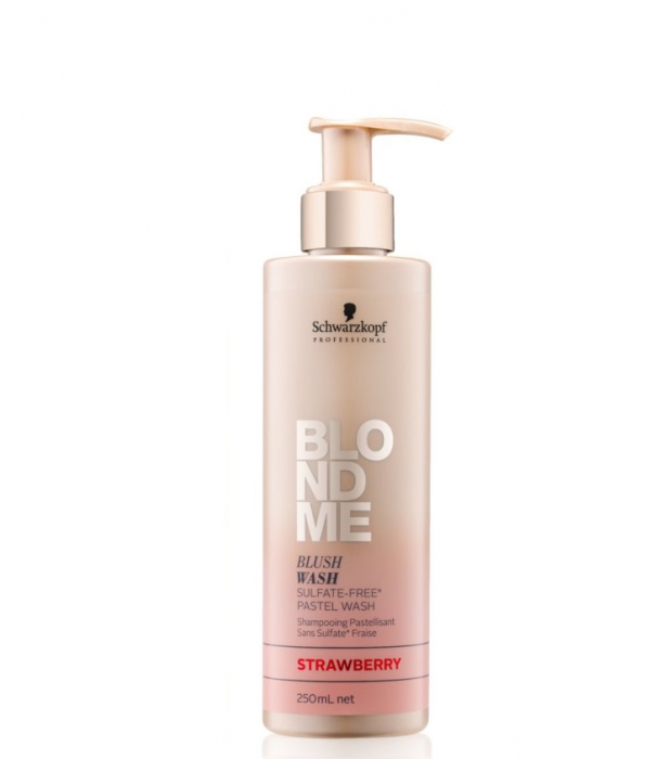 Sampon nuantator pentru par blond Schwarzkopf, Blush Wash Strawberry 250ml 0