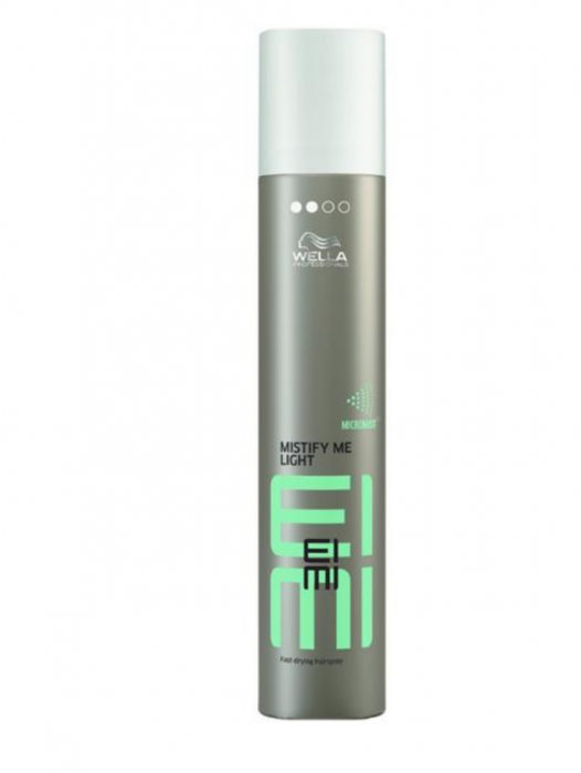 Spray Fixativ cu Fixare Usoara si Uscare Rapida - Wella Professionals Eimi Mistify Me Light Fast-Drying Spray, 300ml 0