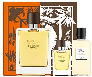 Terre D`Hermes Eau Intense Vetiver, Barbati, Set: Eau de parfum 100 ml + Miniatura 5 ml + Gel de dus 40 ml 0