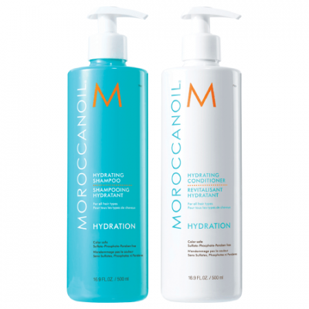 Set Sampon si Conditioner Moroccanoil Hydration 2 x 500ml1