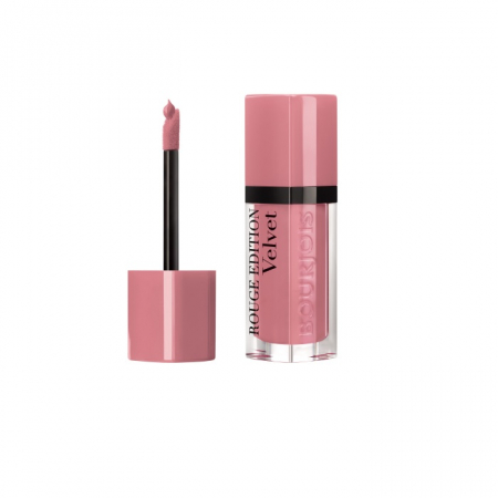 Ruj cu efect matifiant Bourjois Rouge Edition Velvet No.10 Don`t Pink Of It!, 7.7ml1