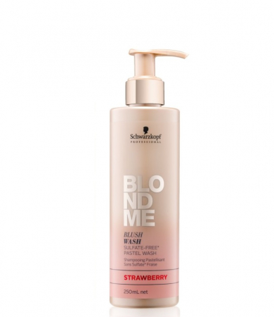 Sampon nuantator pentru par blond Schwarzkopf, Blush Wash Strawberry 250ml0