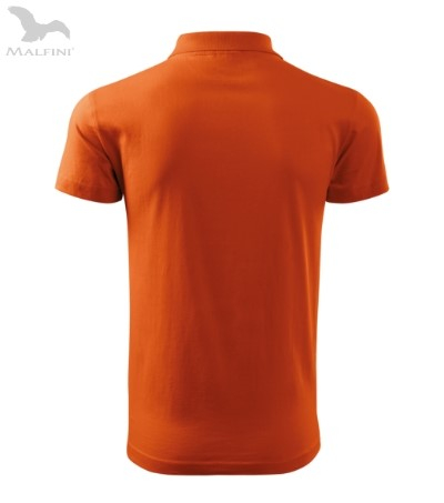 Tricou polo pentru barbati Single J, portocaliu [1]