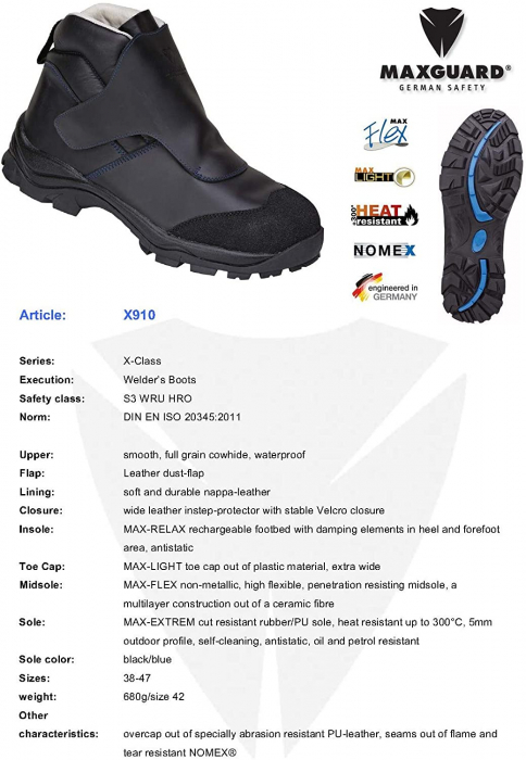 Pantofi protectie Max Guard x910 1