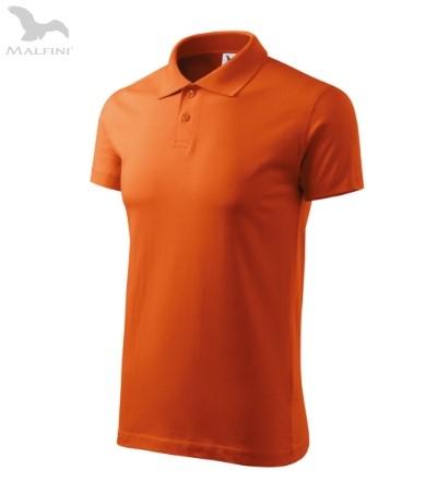 Tricou polo pentru barbati Single J, portocaliu [0]