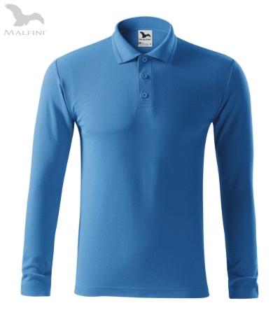 Tricou cu maneca lunga pentru barbati Picq Polo, azur [1]