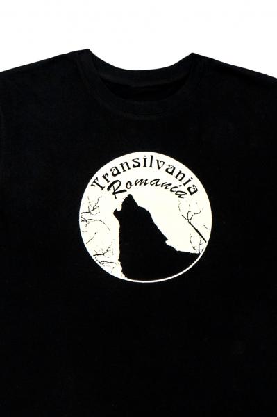 Tricou cu imprimeu lup 1