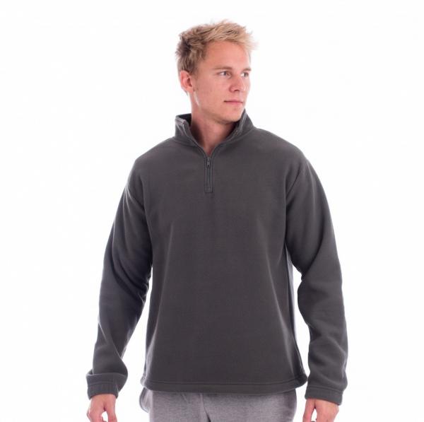 Bluza pentru barbati Horizon, material  fleece, nuanta gri 1