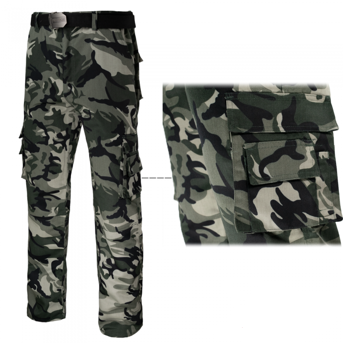 pantaloni protectie camuflaj 1