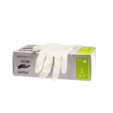 Manusi chirurgicale pudrate din latex, Santex, 100 buc 0