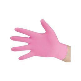 Manusi Examinare Nitril Nepudrate Nesterile, 100 buc/cut Nitrylex Pink Roz 1