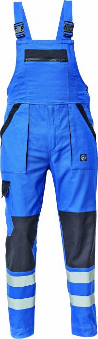 Pantaloni protectie cu pieptar, Max Neo blue, insertii reflectorizante [0]