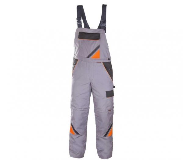 Pantaloni cu pieptar pentru iarna, Professional gri, marimea 46 1
