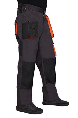 Pantaloni de lucru gri, material rezistent 4