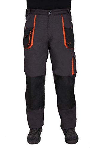 Pantaloni de lucru gri, material rezistent 5