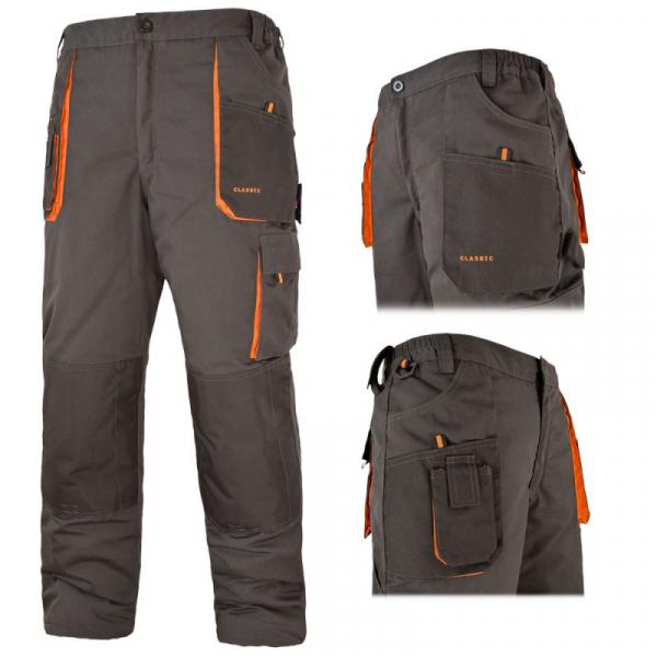 Pantaloni de lucru gri, material rezistent 2