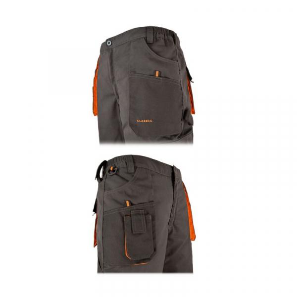 Pantaloni de lucru gri, material rezistent 1