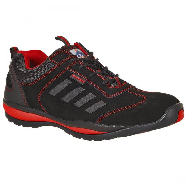 Adidasi Protectie cu bombeu metalic, Steelite™ Lusum S1P HRO, rosu-negru 0