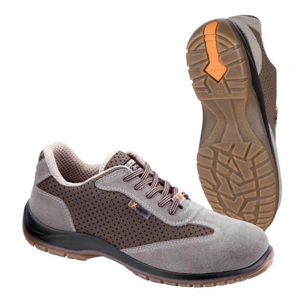 Pantofi de protectie Argo S1P ,din piele si microfibra perforata 0