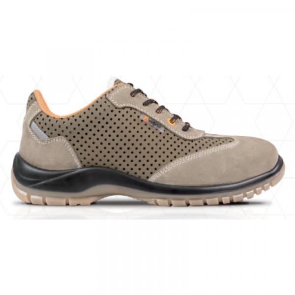 Pantofi de protectie Argo S1P ,din piele si microfibra perforata 1