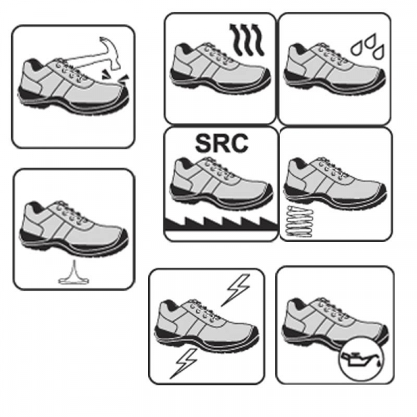 Pantofi de protectie cu bombeu compozit, piele naturala 2